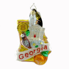 Radko Halloween Ornaments Amazon Com Christopher Radko Georgia Peach State Christmas