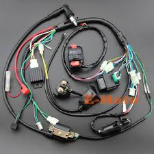 full electrics wiring harness coil cdi spark plug kits for 50cc