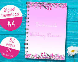 of honor organizer printable of honor planner wedding planner for of