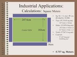 8 square meters industrial skills area descriptions calculations industrial