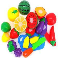 Plastic Toy Kitchen Set Amazon Com Susenstone 1 Set Cutting Fruit Vegetable Pretend Play