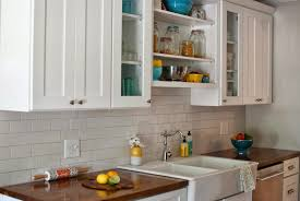 Kitchen Sinks With Backsplash Home Design White Kitchen Cabinet With Tile Backsplash And Ikea