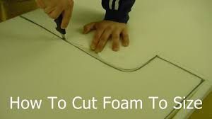 Diy Foam Upholstery Supplies How To Cut Foam To Size Cutting Upholstery Foam At Home Youtube