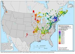 Time Zone Map For Usa White Nose Syndrome Map White Nose Syndrome