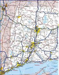 road map connecticut usa connecticut