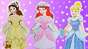 Ariel Clothes For Toddlers Disney Princess Belle Magnet Dress Up Doll With Cinderella And
