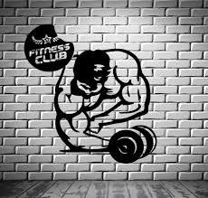 bodybuilding fitness club iron sport decor wall mural vinyl art bodybuilding fitness club iron sport decor wall mural vinyl art sticker z830