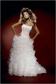 layers tiers ruffles popular wedding gown runway designs