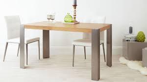 Modern Oak Desk Modern Oak Dining Table Brushed Steel Legs Seats 6