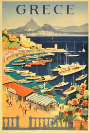 Posters For Home Decor by Original Vintage Travel Poster For Greece Grece Athenes Baie