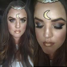 gold halloween makeup moon goddess halloween makeup tutorial youtube