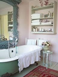 Romantic Bathroom Decorating Ideas Colors Romantic Bathroom Green Bathtub And Big Mirror Pink Wall Dweef