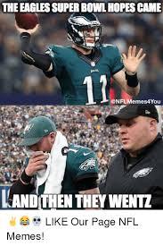Meme Philadelphia - the eagles super bowl hopes came 12 kand then they wentz