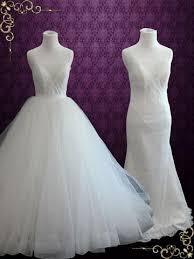 convertible mermaid wedding dress convertible wedding dress ieie bridal