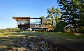 Landscape Architecture Magazine by Open Plan A Vacation Home In The Berkshires Becomes One With The