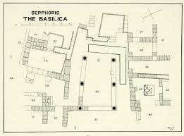 basilica floor plan 1937 print sepphoris map basilica israel tzippori saffuriyye