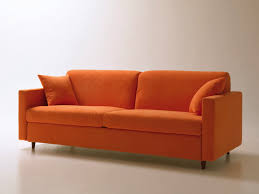 Orange Sofa Bed Space Saving Sofa Bed With Swivel Opening Removable Fabric
