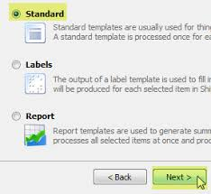 create a standard template for a return label only shipworks support