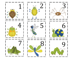 12 best photos of printable insect cards bug bingo printable