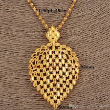 fine chain pendant necklace images Wholesale dubai necklace women ethiopian plume pendant necklace jpg