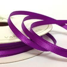 satin ribbon 6mm satin ribbon purple satin ribbon
