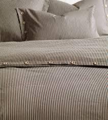 bedding ticking stripe duvet cover black or dark blue in stock