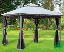 giardini con gazebo gazebo da giardino 3x3 mt con telo in poliestere e teli zanzariera