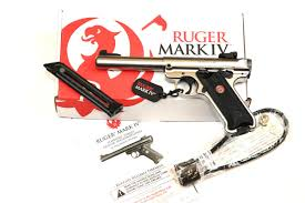ruger mark iv target pistole stainless 22lr awm