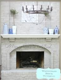 how to whitewash your brick fireplace with milk paint the for