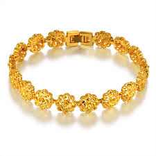classic link bracelet images Classic ethnic prom flower gold bracelet female gold color hot jpg