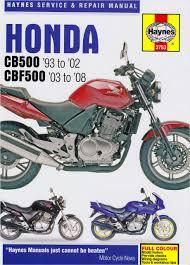 honda cb500 service and repair manual 1993 2001 haynes service