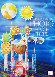 how to make your own photo booth create your own summer party photo booth and photo props soiree