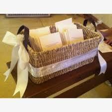 Basket For Wedding Programs Rustic Woven Wedding Programs Basket Cards Amenities Toiletries