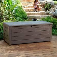 Garden Storage Bench Plastic Outdoor Storage Bins Outdoor Designs