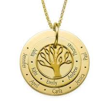 personalized family tree necklace personalized family tree necklace in 18k gold plating my family