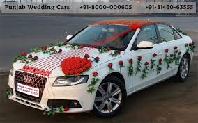 indian wedding car decoration wedding cars audi decorated flowers ribbons bouquet audi