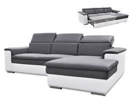 canapé angle gris blanc canapé d angle convertible avec têtières 2 coloris connor