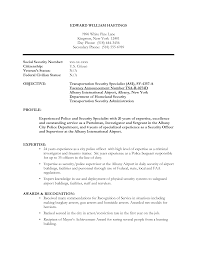 Law Enforcement Resume Examples by Resume Sample Security Resume