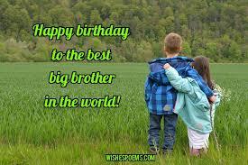 Happy Birthday Wishes To Big 125 Birthday Wishes For Brothers Happy Birthday Brother Happy