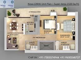 2bhk Floor Plan Supertech Supernova Noida Floor Plan