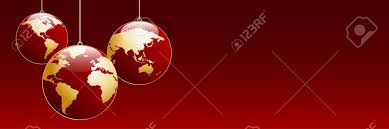 vector banner tree balls in the shape of planet