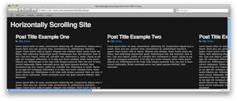 Html Scrollable Table How To Create A Horizontally Scrolling Site Css Tricks