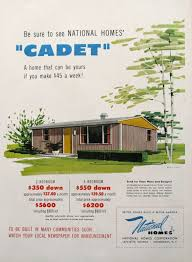 1953 national homes cadet house advertisement midcentury with new
