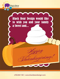 happy thanksgiving from black graphic and web design