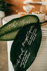 chic tiki cocktail party bar menu menu and leaves