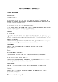 Curriculum Vitae Samples In Pdf by Curriculum Vitae Format Pdf Free Samples Examples U0026 Format