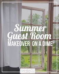 inexpensive summer guest bedroom makeover skimbaco lifestyle