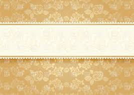 Invitation Cards Free Download Golden Floral Victorian Style Invitation Card Vector Image 18754