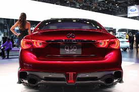 infinity car back infiniti q50 eau rouge rear fascia at naias 2014 indian autos blog