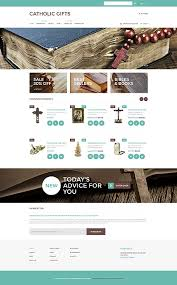 catholic gifts store website templates religious candle custom website template